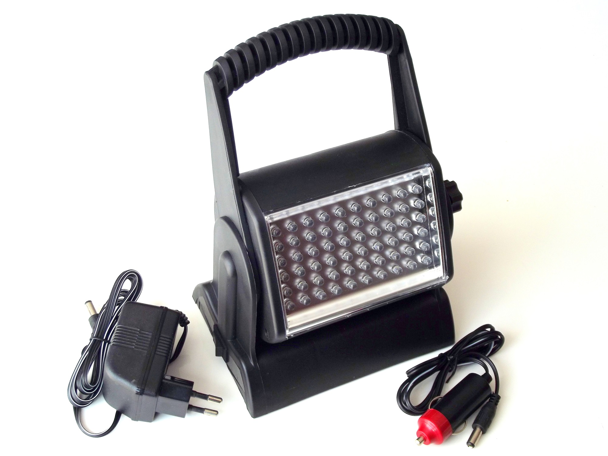 60 led akku arbeitsleuchte arbeitslampe baulampe strahler scheinwerfer 12v 230v ebay. Black Bedroom Furniture Sets. Home Design Ideas